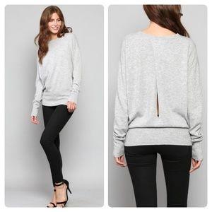 🔃Grey Wool/Cashmere Dolman Sweater